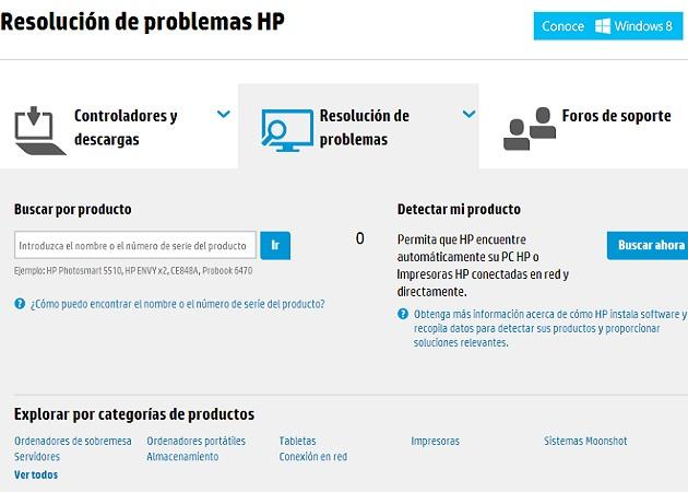 centro de resolución de problemas de HP