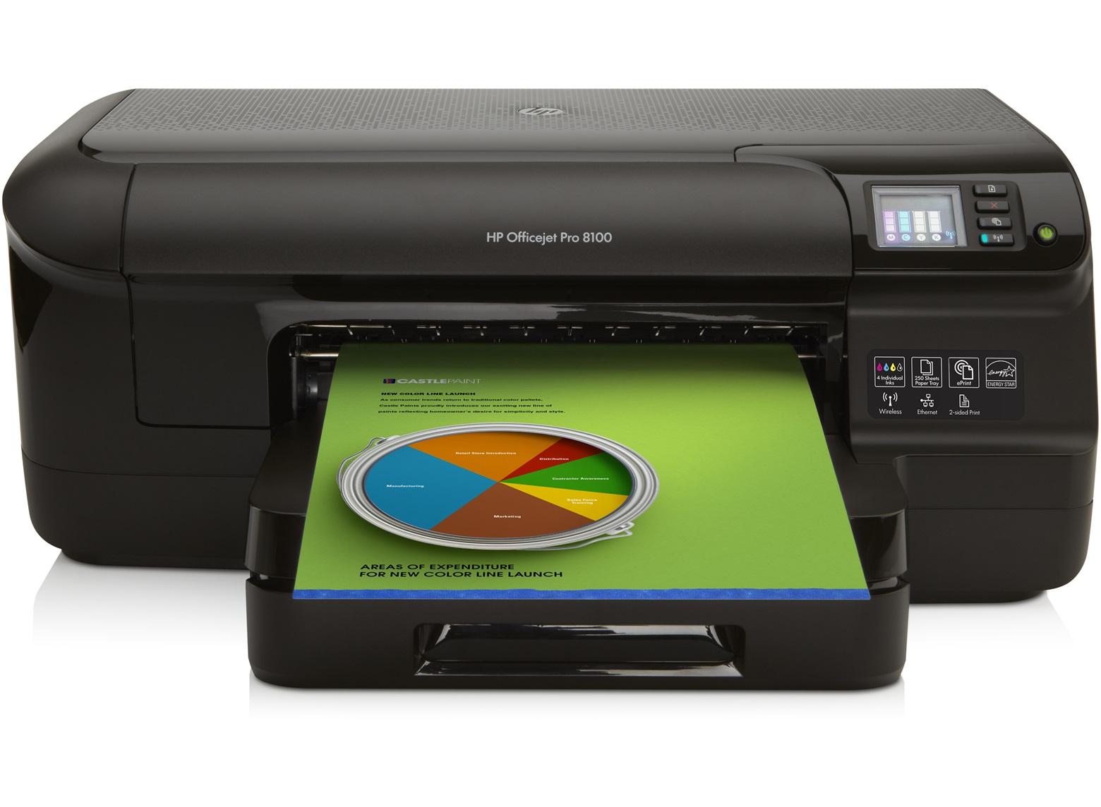 Imprimir una página de prueba con la HP Officejet Pro 8100