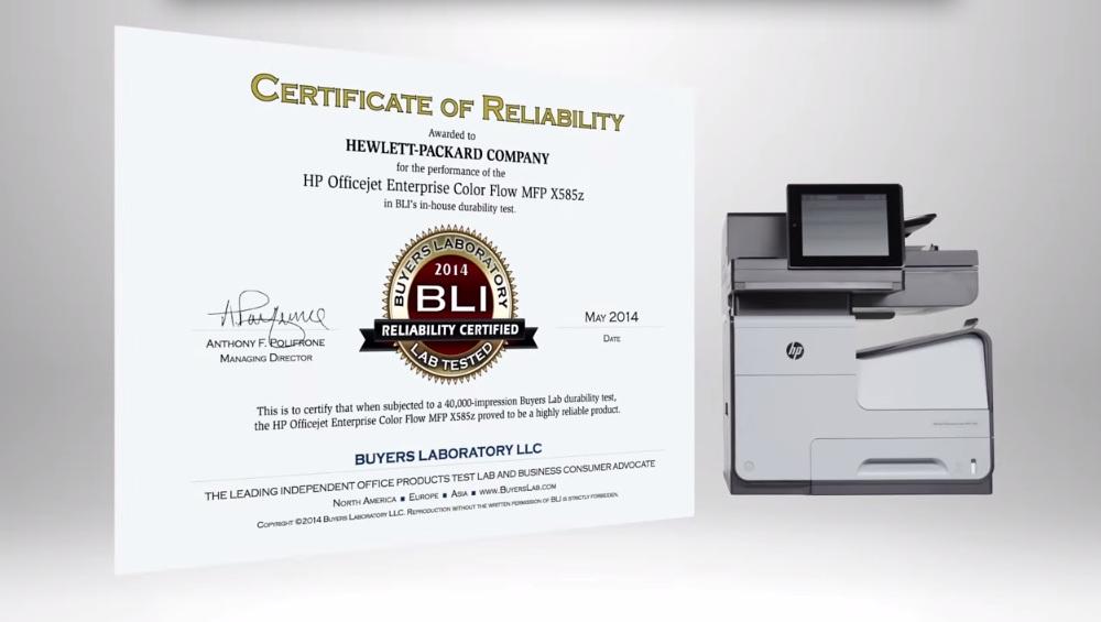 En vídeo: Buyers Laboratory prueba las Officejet Pro X