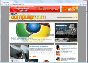 Google Chrome interfaz