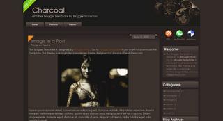 Charcoal, plantilla para Blogger