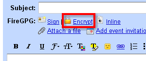 firegpg-encrypt-message