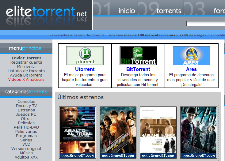 Elitetorrent.net ha sido declarada web legal - MuyPymes