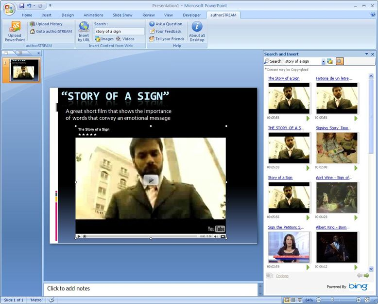how to include video in powerpoint