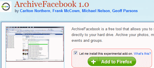 ArchiveFacebookAddon