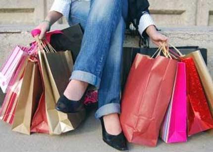 mujer compra