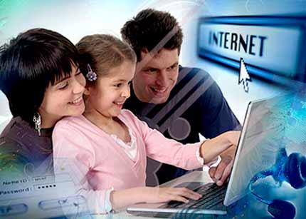niños padres internet