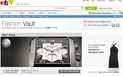 fashion vault ebay