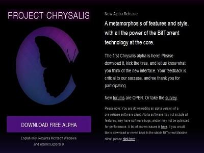 BitTorrent Inc. lanza Chrysalis