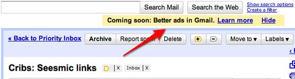 Gmail contará con un nuevo formato de anuncios