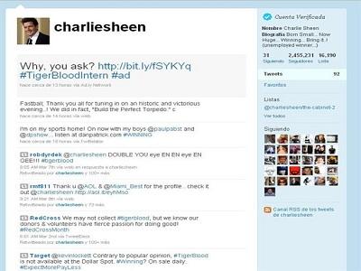 Charlie Sheen, todo un fenómeno en Twitter