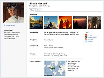 Nuevo diseño para Google Profiles