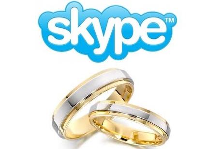 Boda celebrada desde Skype