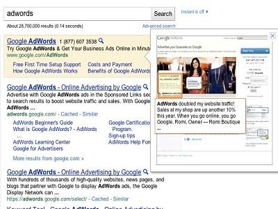 Instant Previews llega a los anuncios de Google