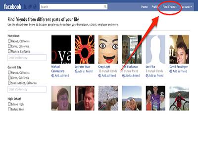 Facebook modifica el buscador de amigos