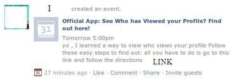 Los eventos de Facebook son usados con fines maliciosos