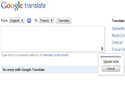 Google Translate permite usar la voz en su versión web