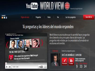 Zapatero responderá en YouTube a todos los ciudadanos