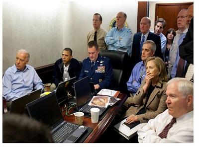 La foto de Obama viendo la muerte de Bin Laden, muy seguida en Flickr