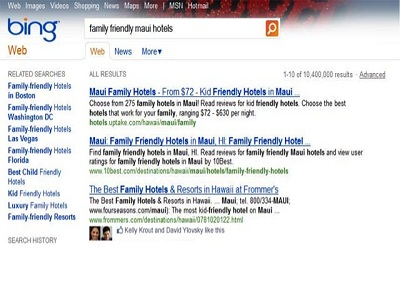 """Los resultados de Bing integran los """"Me gusta"""" de Facebook"""
