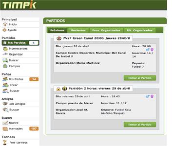 Timpik, una red social para deportistas