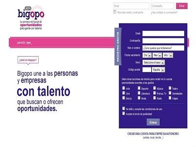 Bigopo, red social para gente con talento