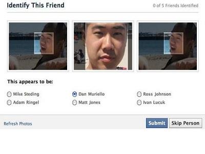 Facebook permite a sus usuarios deshabilitar el reconocimiento facial