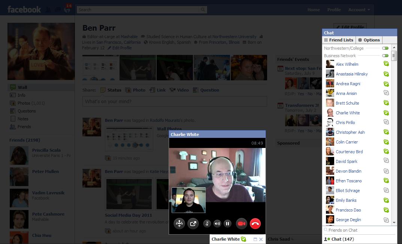 facebook skype Facebook podría integrar Skype para competir con Google+