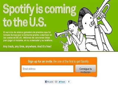 Spotify llega a Estados Unidos