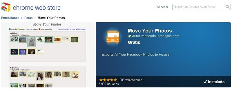 "Migra tus fotos de Facebook a Google+ con ""Move Your Photos"""