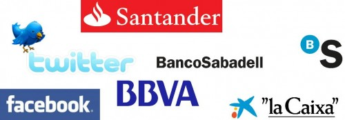 banca y redes 500x174 La banca se abre paso en la Web 2.0