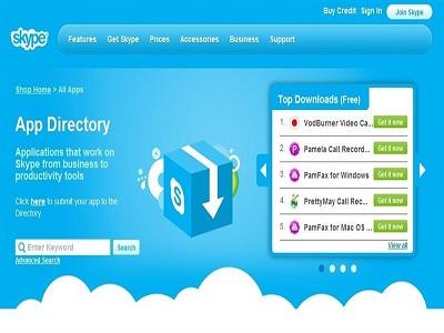 Skype ya tiene tienda de aplicaciones