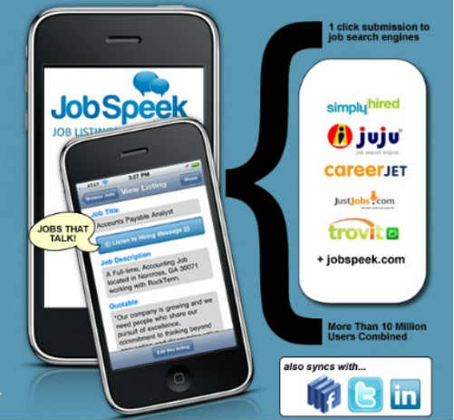 jobspeek JobSpeek, graba tu oferta de empleo por voz