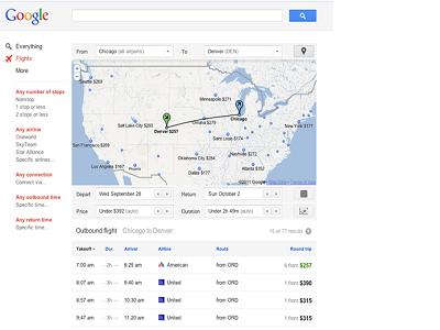 Google presenta por fin su propio buscador de vuelos