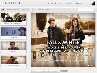 Cortefiel lanza su tienda online