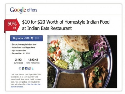 Google Offers no tiene nada que hacer con LivingSocial o Groupon