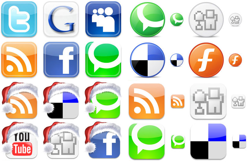 iconos redes sociales muypymes