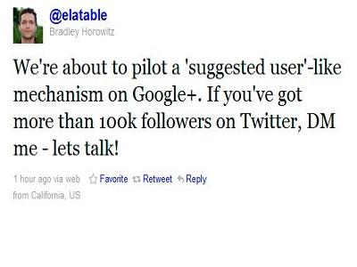 Google+ sugerirá usuarios