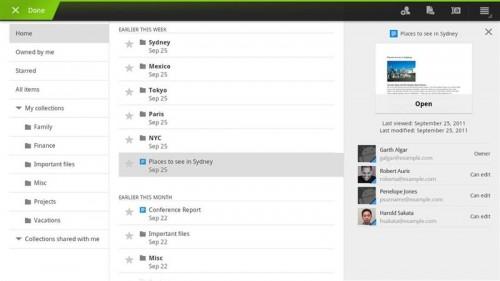 google docs android 500x281 Google Docs se adapta a los tablets
