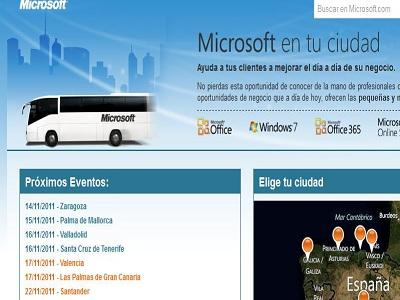 Microsoft estará por España presentando al canal
