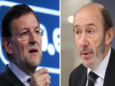 Rubalcaba y Rajoy protagonizarán esta noche el quinto cara a cara de la democracia