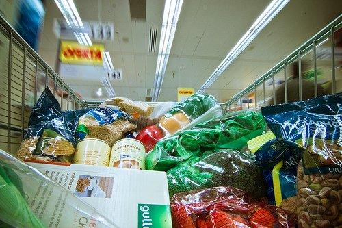 cesta de la compra alimentación