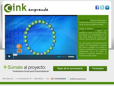 Cink emprende: 10 plazas a emprendedores por 1 euros al mes