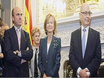 """De Guindos: """"A Salgado le tocó bailar con el más feo"""""""