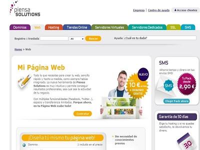 Crea la web de tu empresa facilmente con la nueva herramienta de Piensa Solutions