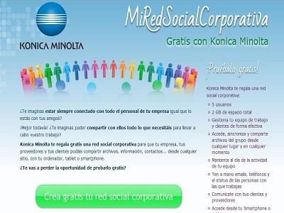 Konica Minolta presentará una red social corporativa gratis para pymes