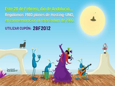 Cybernéticos celebrará el Día de Andalucía regalando 1980 planes de hosting a empresas y particulares