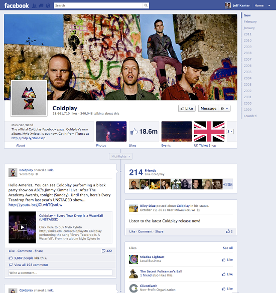 Coldplay Page