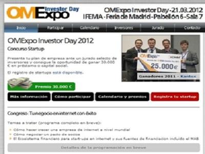 Participa en la competición de emprendedores del OMExpo Investor Day 2012
