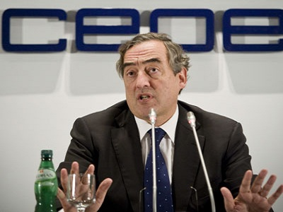 El presidente de la CEOE reconoce que hay gente que no acepta la reforma laboral